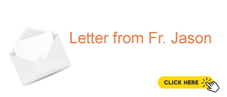 Letter from Fr. Jason