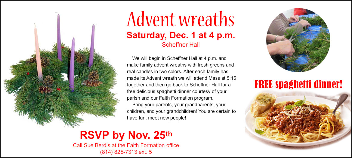 Make Advent wreaths with us!