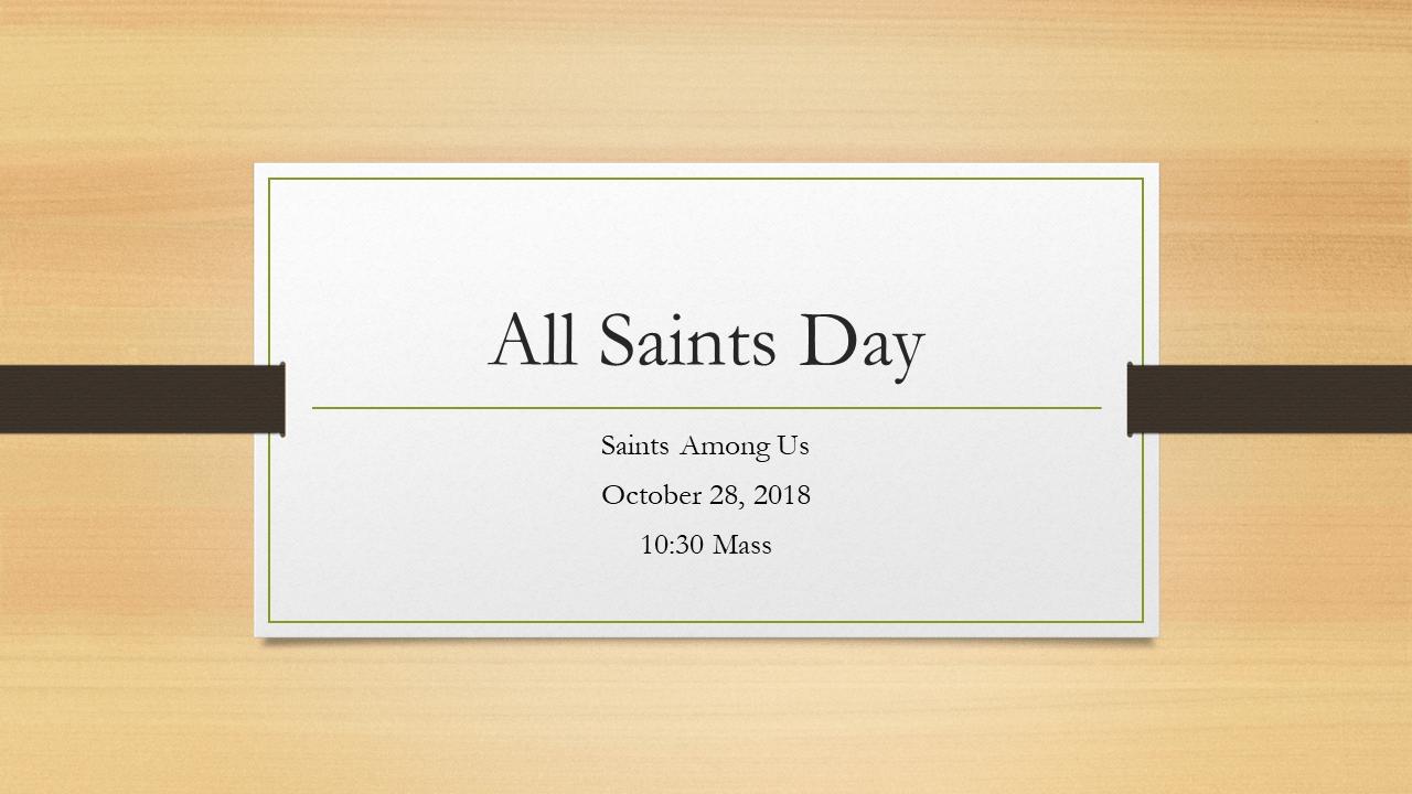 All Saints logo