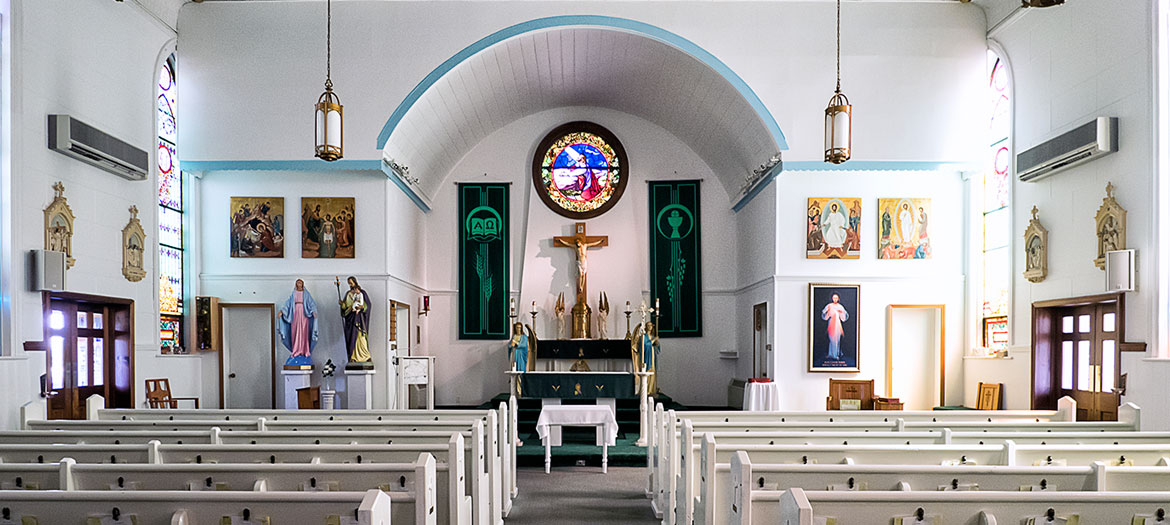 The altar at St. Basil the Great in Coalport, PA