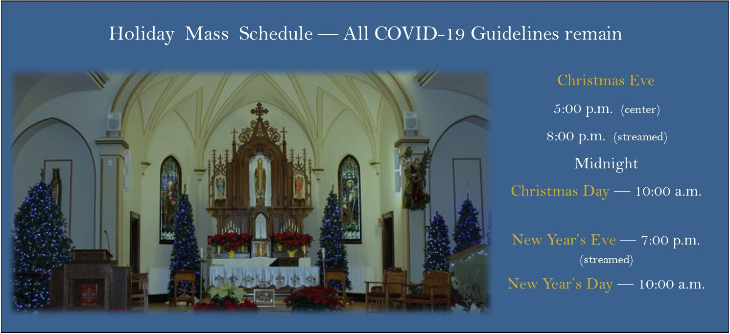 Christmas 2020 Mass Schedule