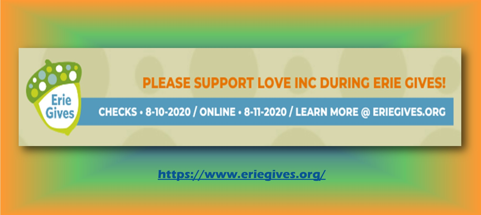 Erie gives for love inc