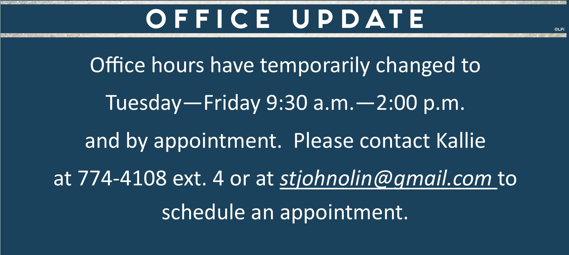 Office Hour Change