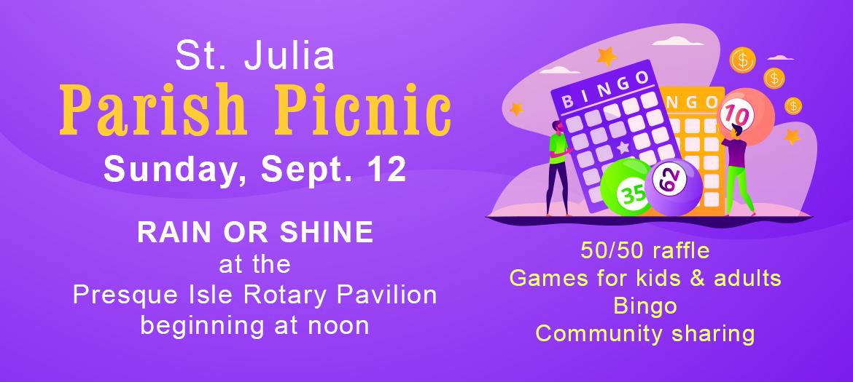 2021 parish picnic sept. 12