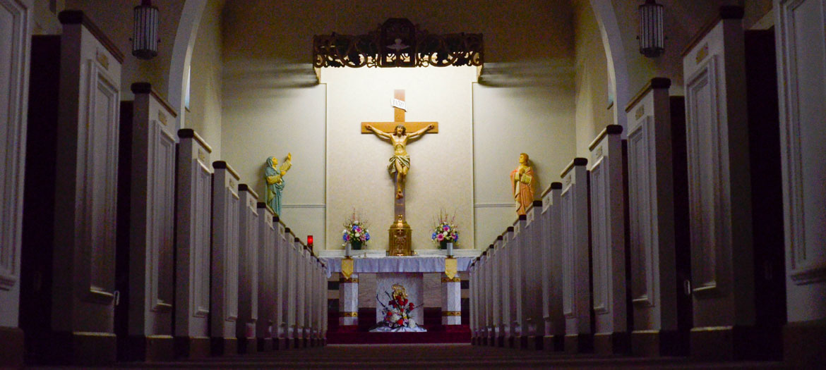 An inside view of St. Julia