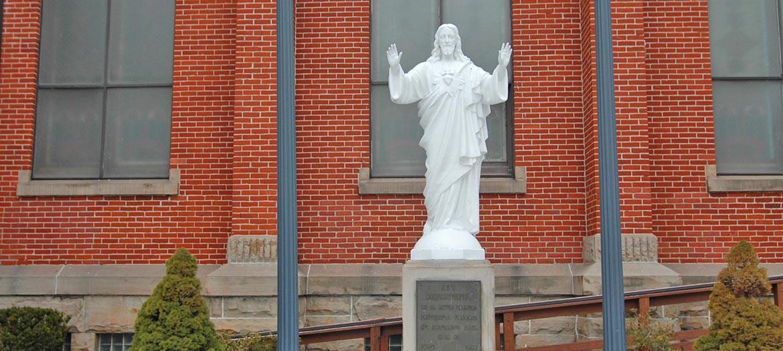 Outside statue